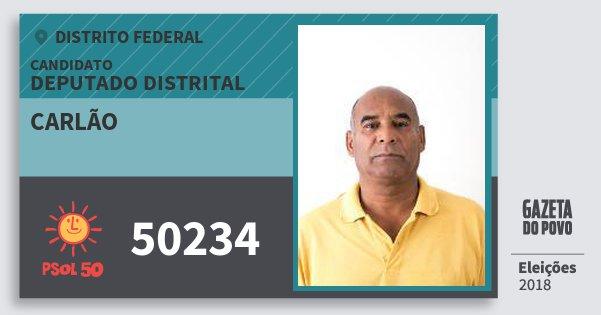 Santinho Carlão 50234 (PSOL) Deputado Distrital | Distrito Federal | Eleições 2018