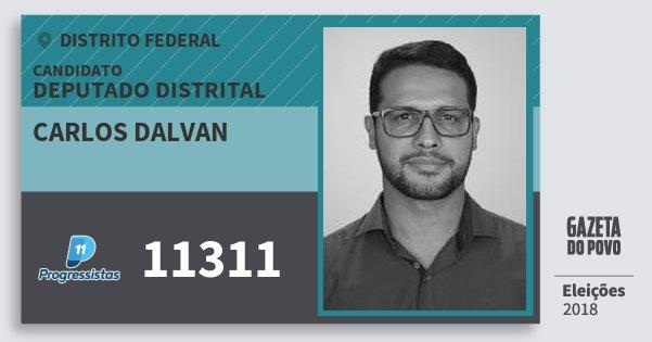 Santinho Carlos Dalvan 11311 (PP) Deputado Distrital | Distrito Federal | Eleições 2018