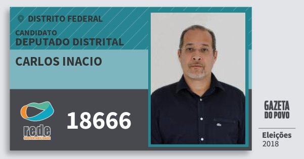 Santinho Carlos Inacio 18666 (REDE) Deputado Distrital | Distrito Federal | Eleições 2018