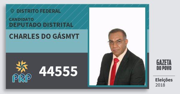 Santinho Charles do Gásmyt 44555 (PRP) Deputado Distrital | Distrito Federal | Eleições 2018
