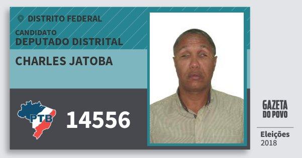 Santinho Charles Jatoba 14556 (PTB) Deputado Distrital | Distrito Federal | Eleições 2018