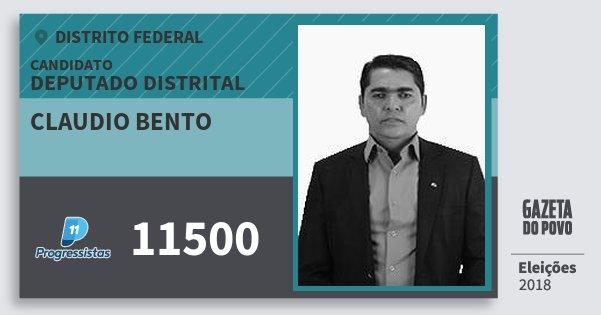Santinho Claudio Bento 11500 (PP) Deputado Distrital | Distrito Federal | Eleições 2018