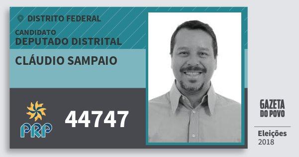 Santinho Cláudio Sampaio 44747 (PRP) Deputado Distrital | Distrito Federal | Eleições 2018