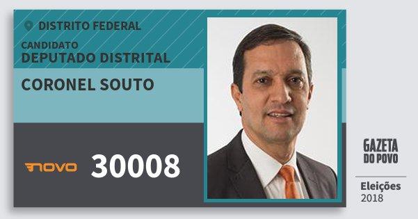 Santinho Coronel Souto 30008 (NOVO) Deputado Distrital | Distrito Federal | Eleições 2018