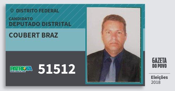 Santinho Coubert Braz 51512 (PATRI) Deputado Distrital | Distrito Federal | Eleições 2018