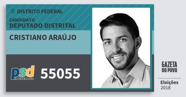 Santinho Cristiano Araújo 55055 (PSD) Deputado Distrital | Distrito Federal | Eleições 2018