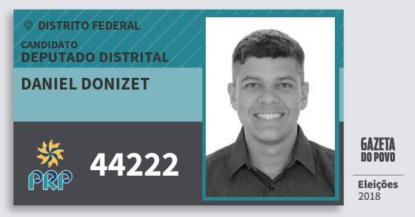 Santinho Daniel Donizet 44222 (PRP) Deputado Distrital | Distrito Federal | Eleições 2018