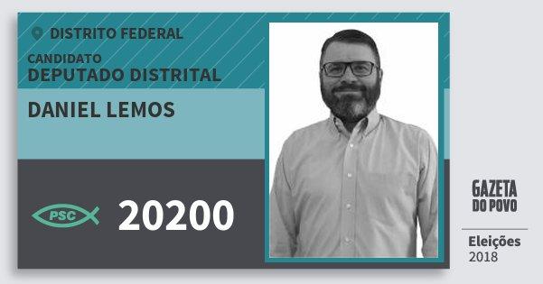 Santinho Daniel Lemos 20200 (PSC) Deputado Distrital | Distrito Federal | Eleições 2018