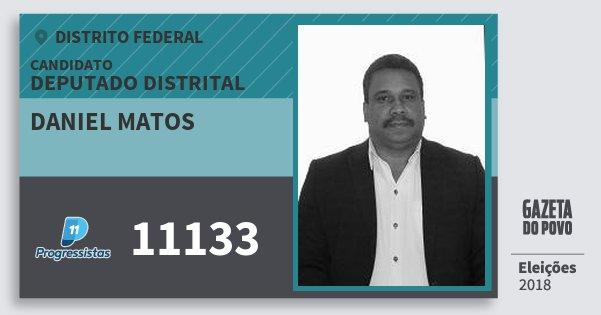 Santinho Daniel Matos 11133 (PP) Deputado Distrital | Distrito Federal | Eleições 2018