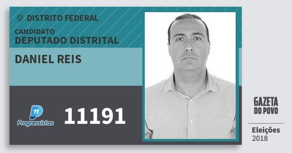 Santinho Daniel Reis 11191 (PP) Deputado Distrital | Distrito Federal | Eleições 2018