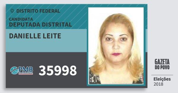 Santinho Danielle Leite 35998 (PMB) Deputada Distrital | Distrito Federal | Eleições 2018