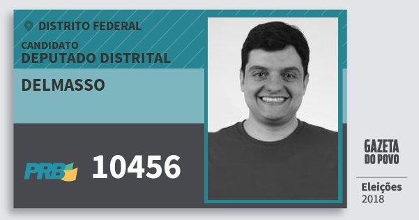 Santinho Delmasso 10456 (PRB) Deputado Distrital | Distrito Federal | Eleições 2018
