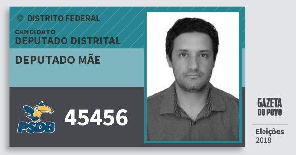 Santinho Deputado Mãe 45456 (PSDB) Deputado Distrital | Distrito Federal | Eleições 2018