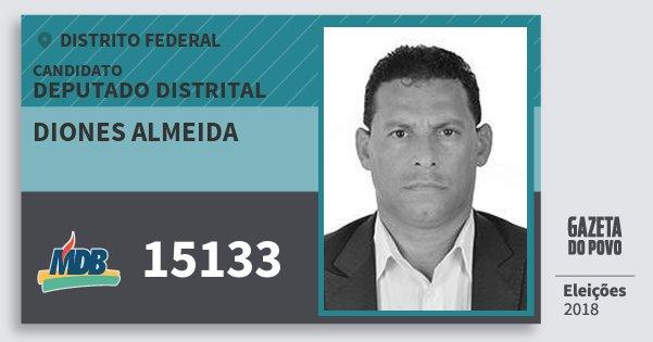 Santinho Diones Almeida 15133 (MDB) Deputado Distrital | Distrito Federal | Eleições 2018