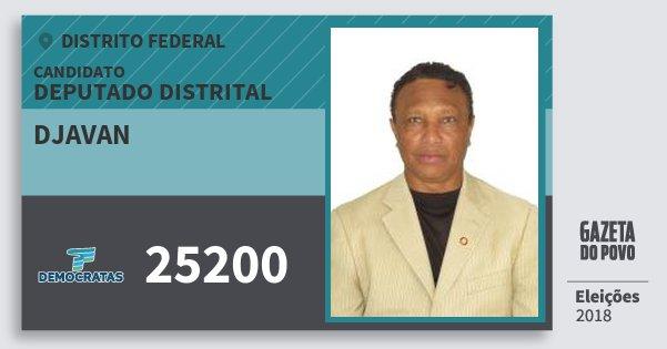 Santinho Djavan 25200 (DEM) Deputado Distrital | Distrito Federal | Eleições 2018