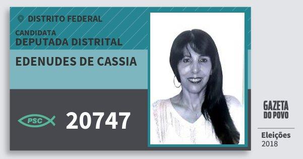Santinho Edenudes de Cassia 20747 (PSC) Deputada Distrital | Distrito Federal | Eleições 2018