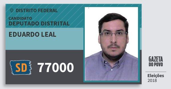Santinho Eduardo Leal 77000 (SOLIDARIEDADE) Deputado Distrital | Distrito Federal | Eleições 2018