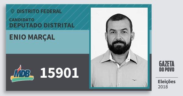 Santinho Enio Marçal 15901 (MDB) Deputado Distrital | Distrito Federal | Eleições 2018