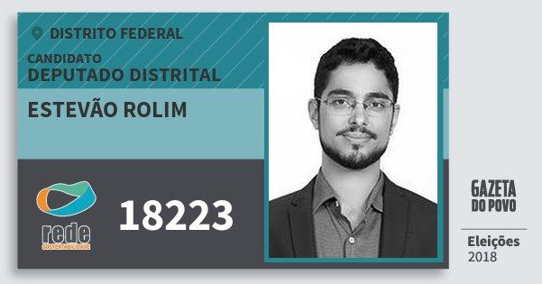 Santinho Estevão Rolim 18223 (REDE) Deputado Distrital | Distrito Federal | Eleições 2018