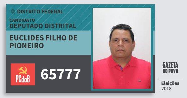 Santinho Euclides Filho de Pioneiro 65777 (PC do B) Deputado Distrital   Distrito Federal   Eleições 2018