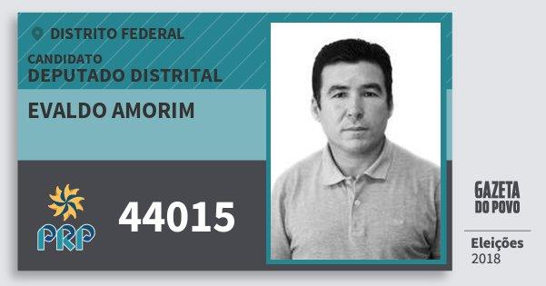 Santinho Evaldo Amorim 44015 (PRP) Deputado Distrital | Distrito Federal | Eleições 2018