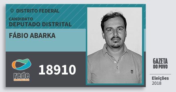 Santinho Fábio Abarka 18910 (REDE) Deputado Distrital | Distrito Federal | Eleições 2018