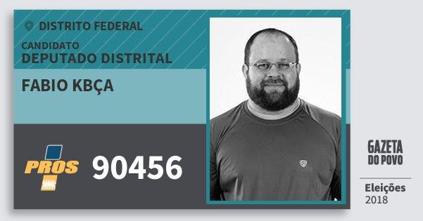 Santinho Fabio Kbça 90456 (PROS) Deputado Distrital | Distrito Federal | Eleições 2018