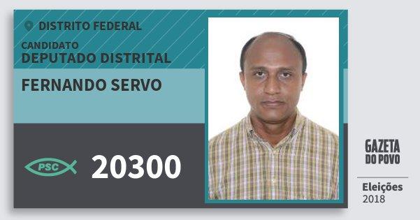 Santinho Fernando Servo 20300 (PSC) Deputado Distrital | Distrito Federal | Eleições 2018