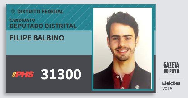 Santinho Filipe Balbino 31300 (PHS) Deputado Distrital | Distrito Federal | Eleições 2018