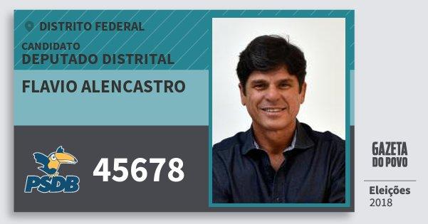 Santinho Flavio Alencastro 45678 (PSDB) Deputado Distrital | Distrito Federal | Eleições 2018