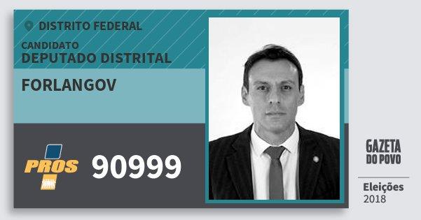 Santinho Forlangov 90999 (PROS) Deputado Distrital | Distrito Federal | Eleições 2018