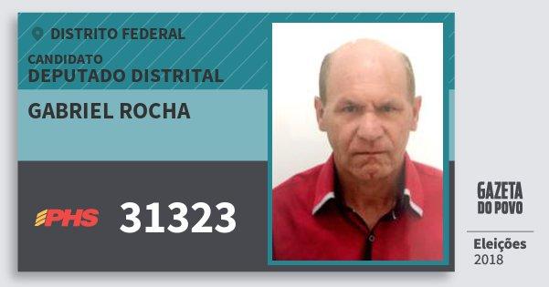 Santinho Gabriel Rocha 31323 (PHS) Deputado Distrital | Distrito Federal | Eleições 2018
