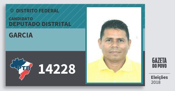 Santinho Garcia 14228 (PTB) Deputado Distrital | Distrito Federal | Eleições 2018