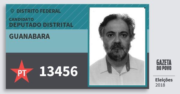 Santinho Guanabara 13456 (PT) Deputado Distrital | Distrito Federal | Eleições 2018