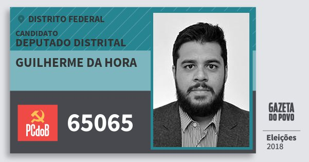 Santinho Guilherme da Hora 65065 (PC do B) Deputado Distrital | Distrito Federal | Eleições 2018