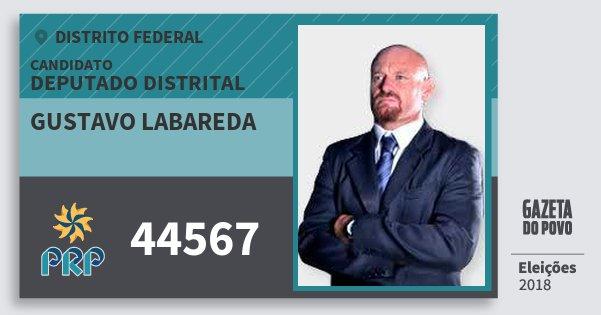 Santinho Gustavo Labareda 44567 (PRP) Deputado Distrital | Distrito Federal | Eleições 2018