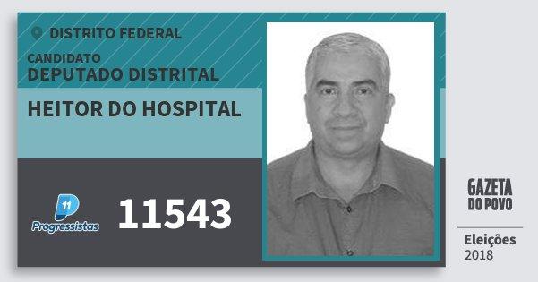 Santinho Heitor do Hospital 11543 (PP) Deputado Distrital | Distrito Federal | Eleições 2018