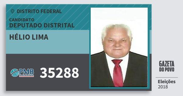 Santinho Hélio Lima 35288 (PMB) Deputado Distrital | Distrito Federal | Eleições 2018