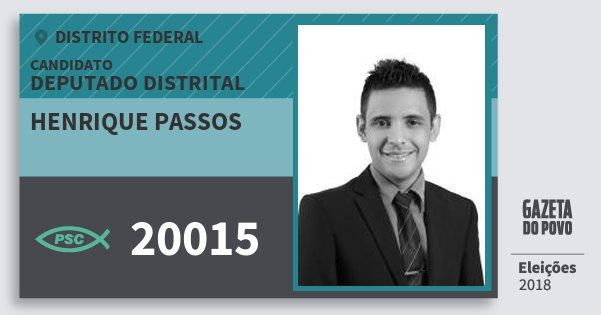 Santinho Henrique Passos 20015 (PSC) Deputado Distrital | Distrito Federal | Eleições 2018