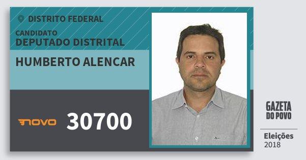 Santinho Humberto Alencar 30700 (NOVO) Deputado Distrital | Distrito Federal | Eleições 2018