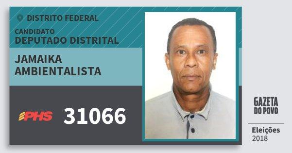 Santinho Jamaika Ambientalista 31066 (PHS) Deputado Distrital | Distrito Federal | Eleições 2018