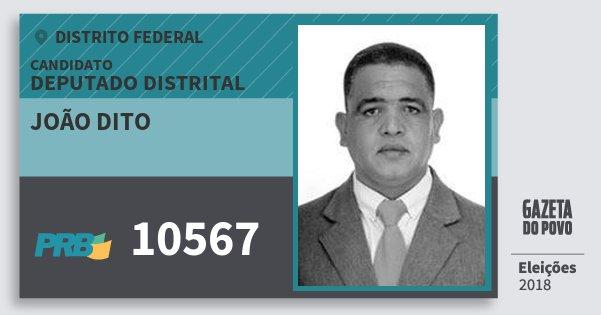 Santinho João Dito 10567 (PRB) Deputado Distrital | Distrito Federal | Eleições 2018