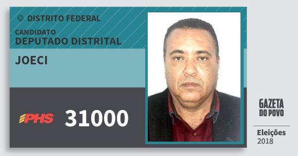 Santinho Joeci 31000 (PHS) Deputado Distrital | Distrito Federal | Eleições 2018