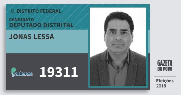 Santinho Jonas Lessa 19311 (PODE) Deputado Distrital | Distrito Federal | Eleições 2018