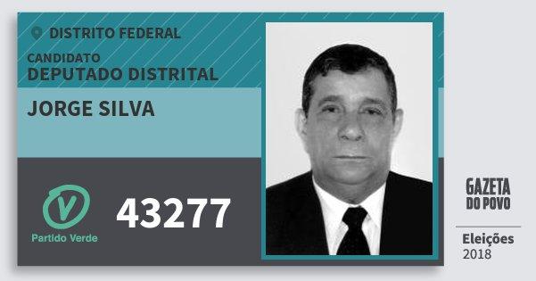 Santinho Jorge Silva 43277 (PV) Deputado Distrital | Distrito Federal | Eleições 2018