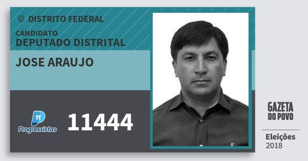 Santinho Jose Araujo 11444 (PP) Deputado Distrital | Distrito Federal | Eleições 2018