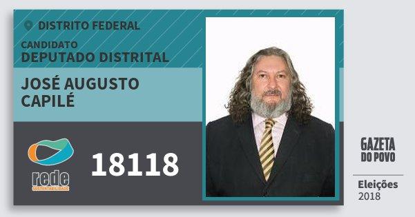 Santinho José Augusto Capilé 18118 (REDE) Deputado Distrital   Distrito Federal   Eleições 2018