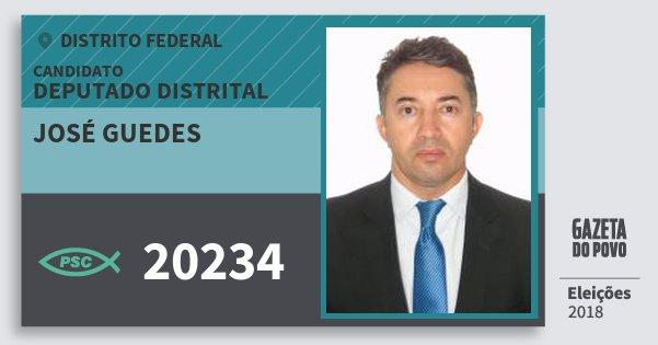 Santinho José Guedes 20234 (PSC) Deputado Distrital | Distrito Federal | Eleições 2018