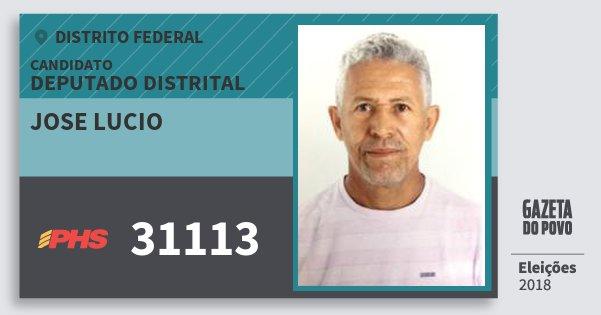 Santinho Jose Lucio 31113 (PHS) Deputado Distrital | Distrito Federal | Eleições 2018