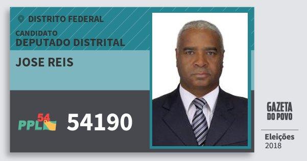 Santinho Jose Reis 54190 (PPL) Deputado Distrital | Distrito Federal | Eleições 2018